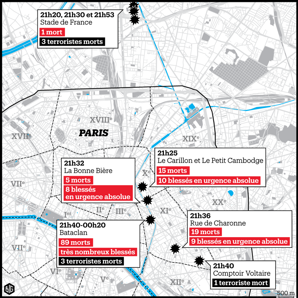 Mapa Atentados